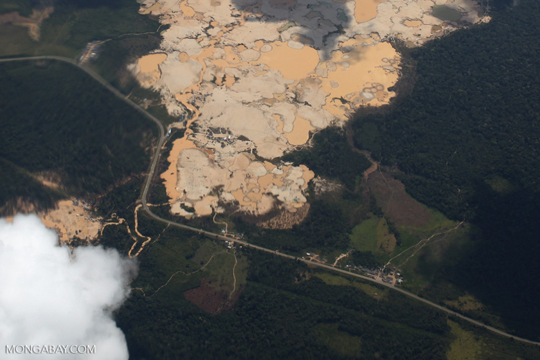 Massive gold mine in the Amazon