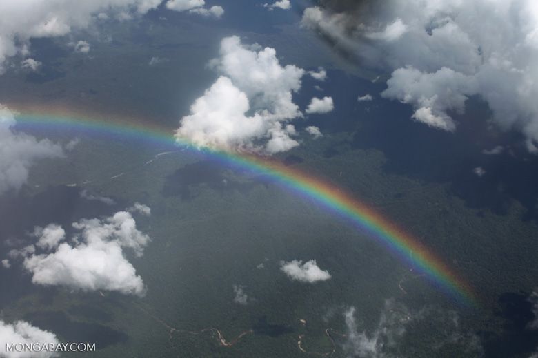 Rainbow over the world's largest tropical forest