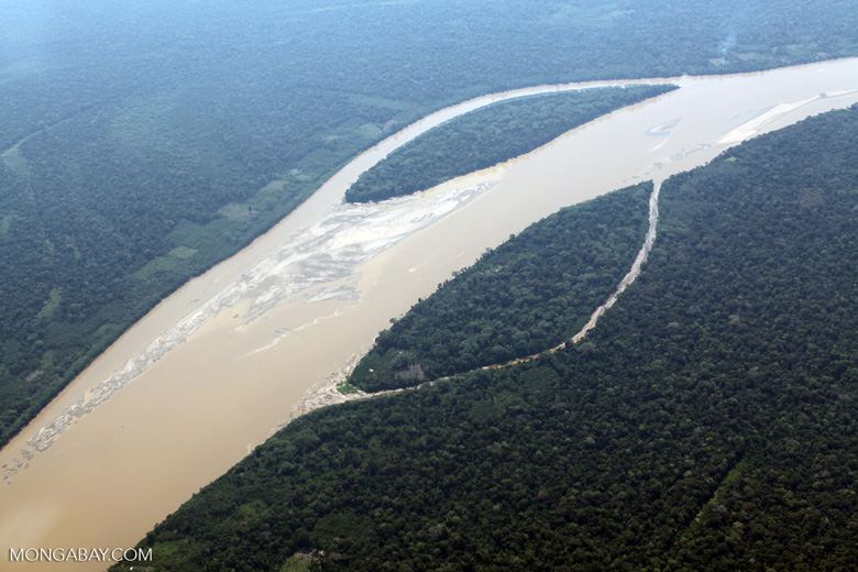 Lake Sandoval in the Peruvian Amazon