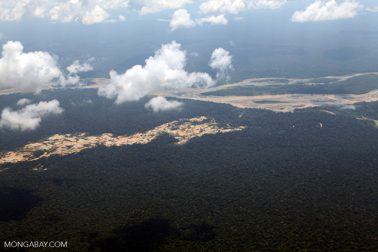 Amazon landscape scarred by illegal gold mining