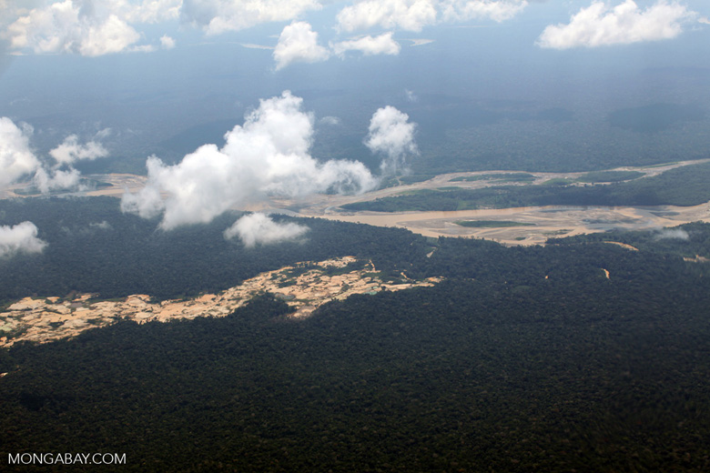 Amazon landscape scarred by gold mines