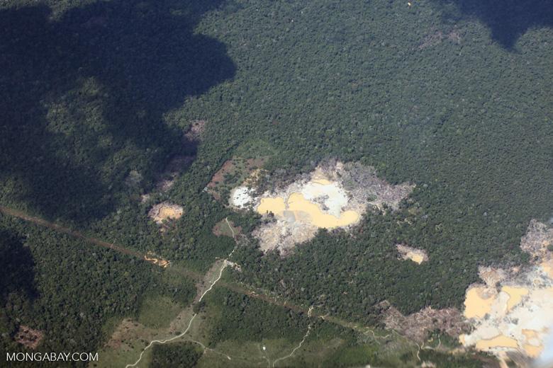 Small-scale mining in the Peruvian Amazon [peru_aerial_1515]