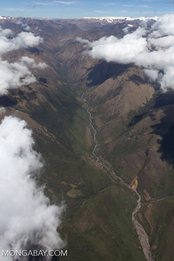 Uppermost reaches of the Amazon basin watershed