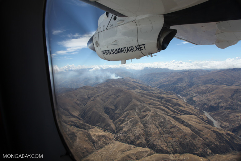 Agricultural fire in the high Andes