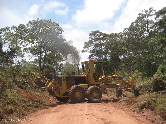 A road under construction in East Africa. Photo by Rhett A. Butler