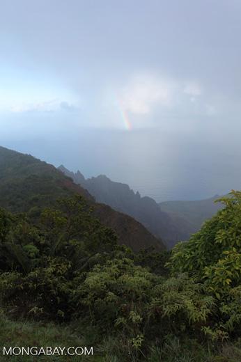 Rainbow off the Na Pali Coast of Kauai