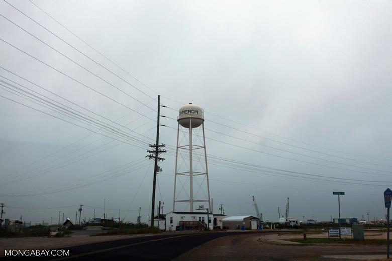 Water tower in Cameron, Louisiana