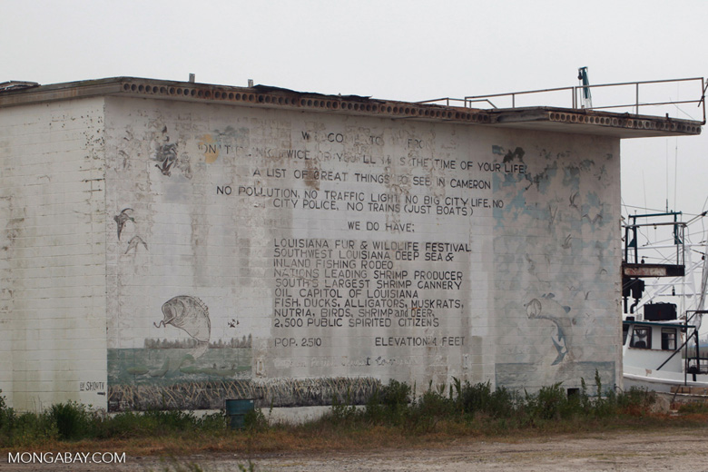 Mural in Cameron, Louisiana