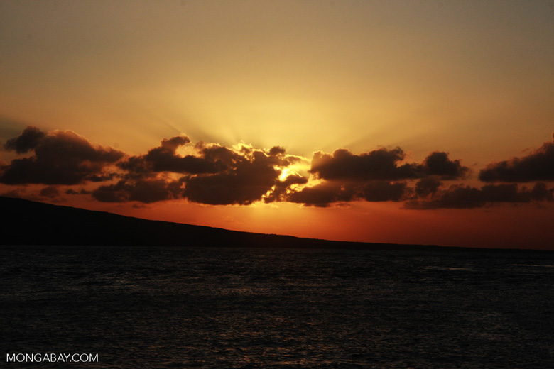 Sunrise near Kaho'olawe Island off Maui