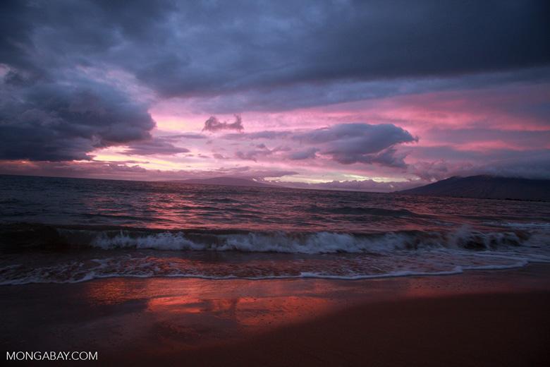 Sunset seen from Wailea Beach in Maui