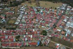 Aerial view of a cluster of homes in San Jose