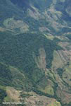 Aerial view of deforestation on mountainous terrain in Costa Rica [costa-rica-d_0196]