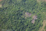Aerial view of foresty clearing in Costa Rica