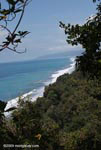 Coastline of the Osa Peninsula with Corcovado in the distance