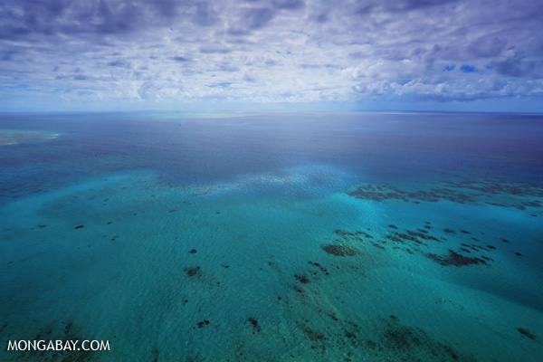 The Great Barrier Reef is threatened by global warming and ocean acidification, both caused by greenhouse gas emissions. Photo by: Rhett A. Butler.