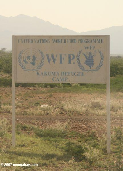 World Food Programme (WFP) sign for Kakuma Refugee Camp