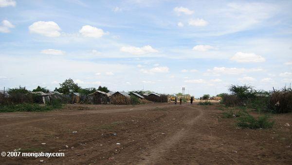 Sudanese section of the Kakuma refugee camp