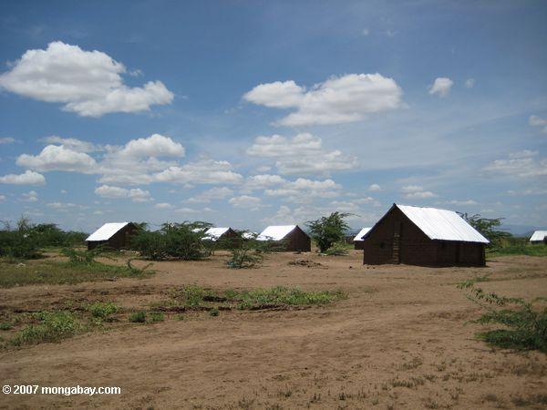 Metal-roof homes in Kakuma refugee camp