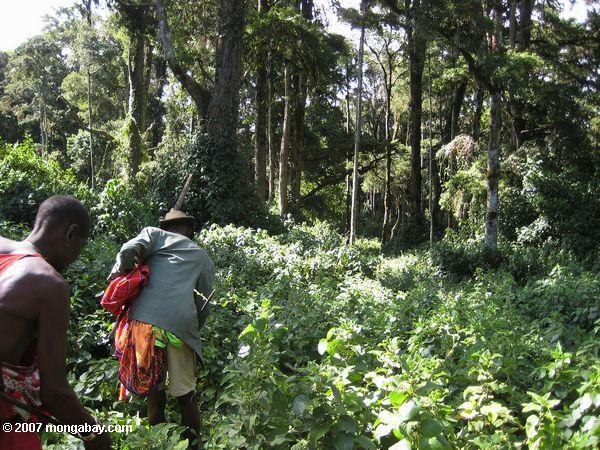 Purko tribesmen in Kenya's Loita Hills, an area where conservation efforts have at times been in conflict with local communities