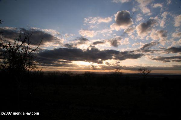 Sunset over Tarangire National Park -- tz_xt_3344