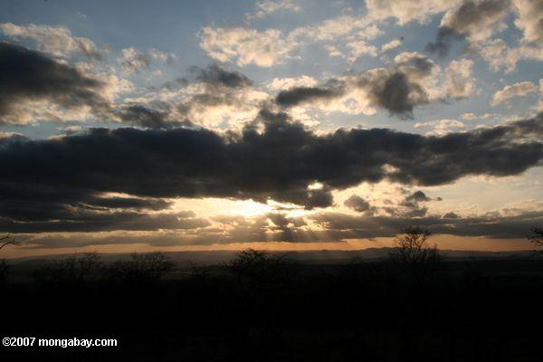 Sunset over Tarangire National Park -- tz_xt_3345