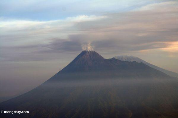 Mt. Semeru, the tallest volcano on Java, erupting (Java)