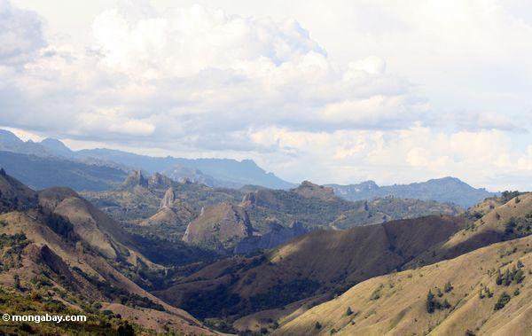 View from Puncak Lakawan (Sulawesi - Celebes)