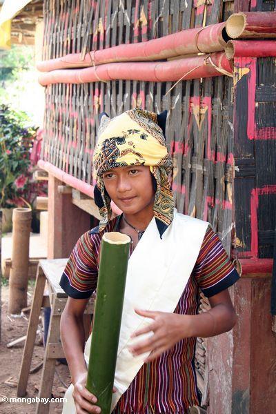 Toraja boy drinking