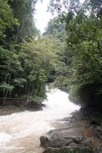 The raging Bantimurung waterfall (Sulawesi - Celebes)