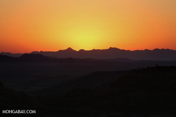 Namibian desert sunset