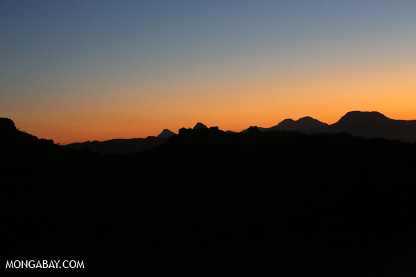 Desert sunset in Namibia