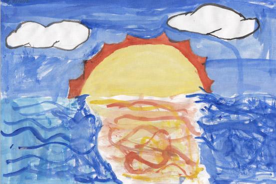 Claude Monet sunset