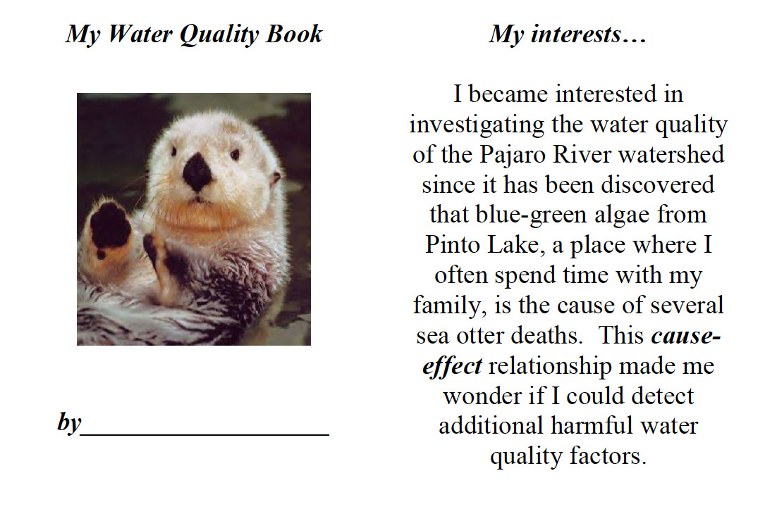 Water quality template book