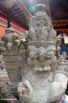 Buck-toothed statue at Puri Saren Agung (Ubud, Bali)
