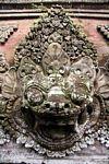 Stone face at Puri Saren Agung (Ubud, Bali) -- bali7936