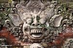 Stone face at Puri Saren Agung (Ubud, Bali) -- bali7941