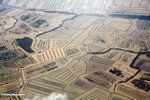 Aerial view of flooded costal rice paddies (Java)