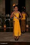 Traditional Javanese dance performance by young girl (Java)