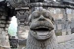 Stone statue animal at Borobudur (Java)