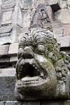 Angry face at Borobudur (Java)