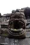 Statue at Borobudur, open mouth (Java)