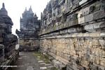 Wall carvings at Borobudur, walkway (Java)