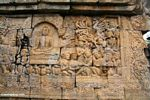 Mural wall carvings at Borobudur (Java)