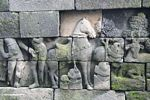 Mural wall carvings at Borobudur--horse (Java)