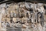Mural wall carvings at Borobudur (Java) -- java5959