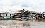 Boats and houses of Kumai, Kalimantan (Kalimantan, Borneo - Indonesian Borneo)