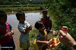 Toraja children playing with bubbles (Toraja Land (Torajaland), Sulawesi) -- sulawesi6810