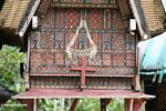 Traditional Tongkonan wood tomb (Toraja Land (Torajaland), Sulawesi) -- sulawesi7003