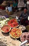 Chilis and tomatos at the market in Rantepao (Toraja Land (Torajaland), Sulawesi)