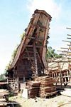 Construction of a traditional house in Palawa (Toraja Land (Torajaland), Sulawesi)
